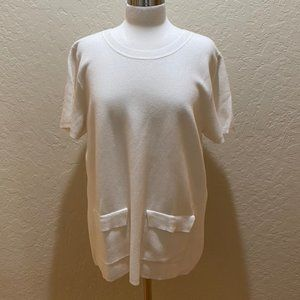 NWT Banana Republic white knit tunic XL
